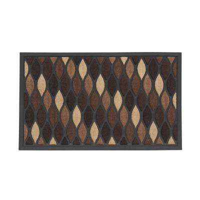 Brown Wave 18 in. x 30 in. Rectangle Entrance Mat