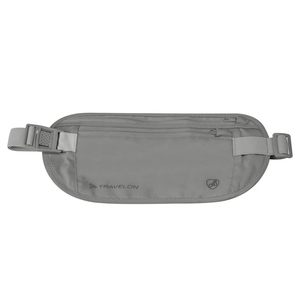 RFID Blocking Gray Undergarment Waist Pouch