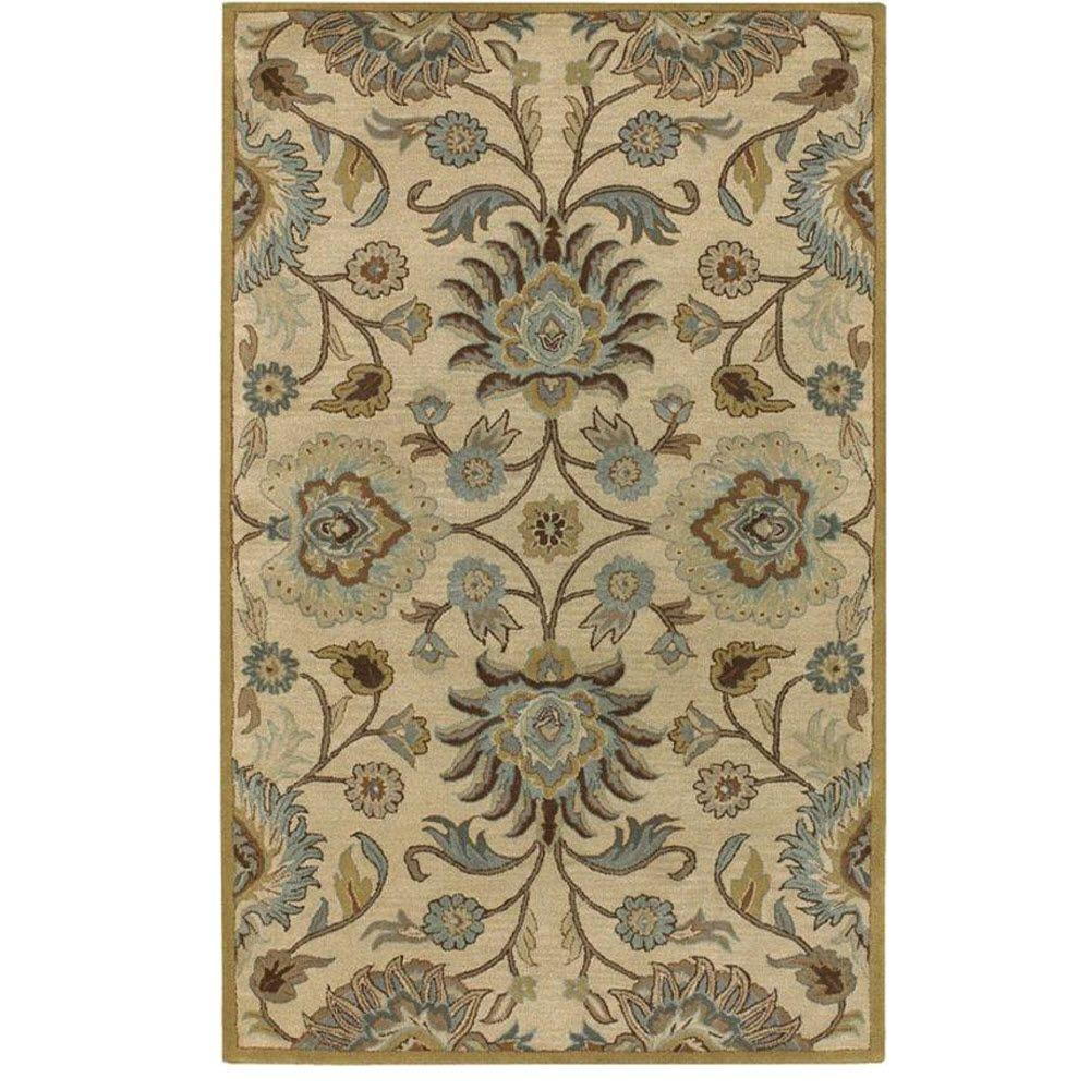 Home Decorators Collection Echelon Beige 6 Ft X 9 Ft Area Rug 8784750420 The Home Depot