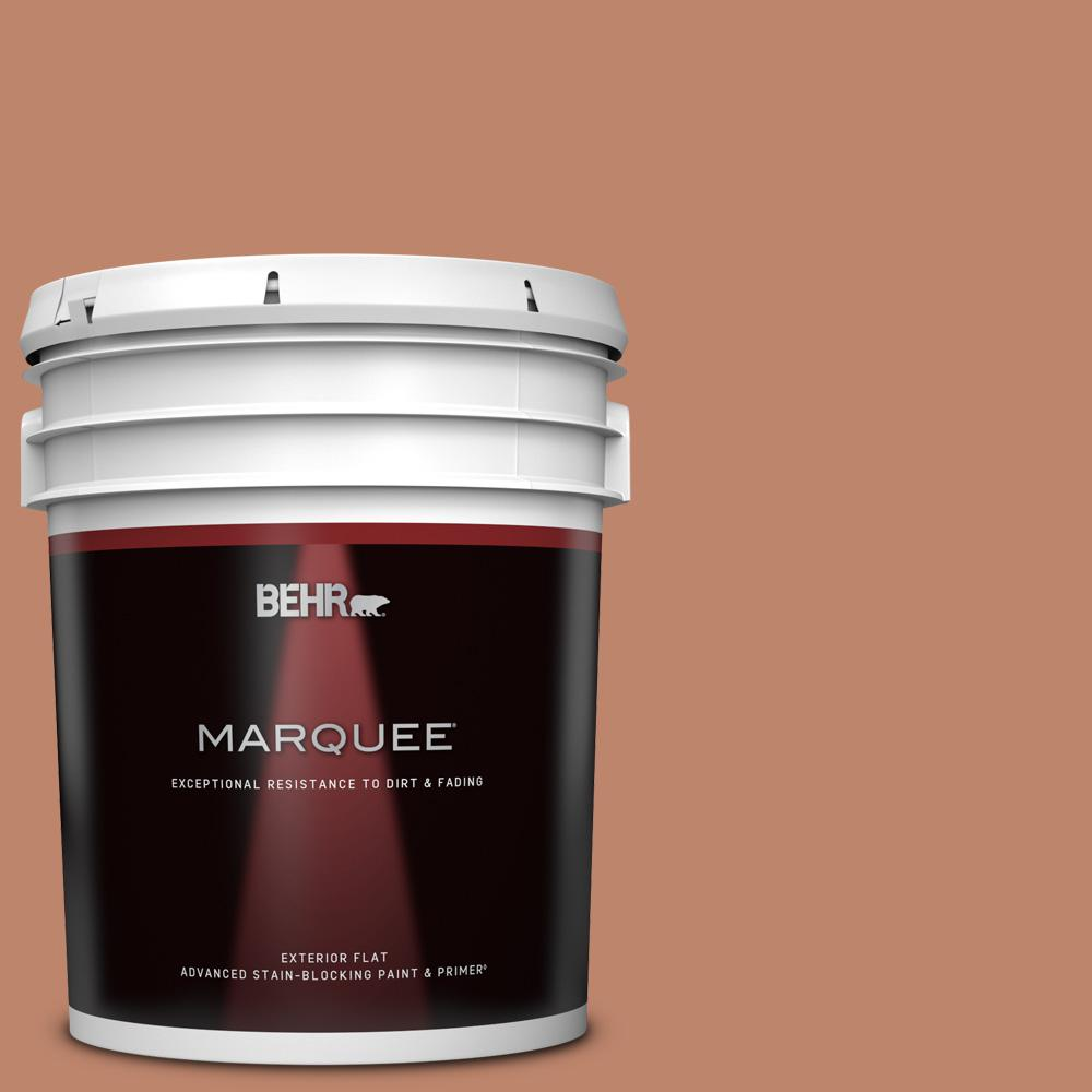 Behr Marquee 5 Gal Qe 03 Clay Ground Flat Exterior Paint Primer 445405 The Home Depot