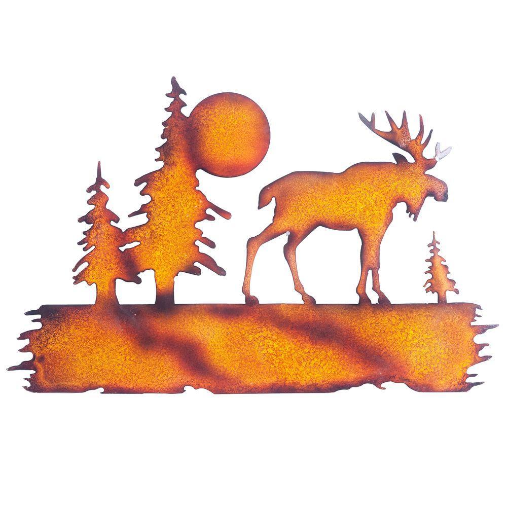 Sunjoy Moose Metal Outdoor Wall Decor 110311025 The Home Depot