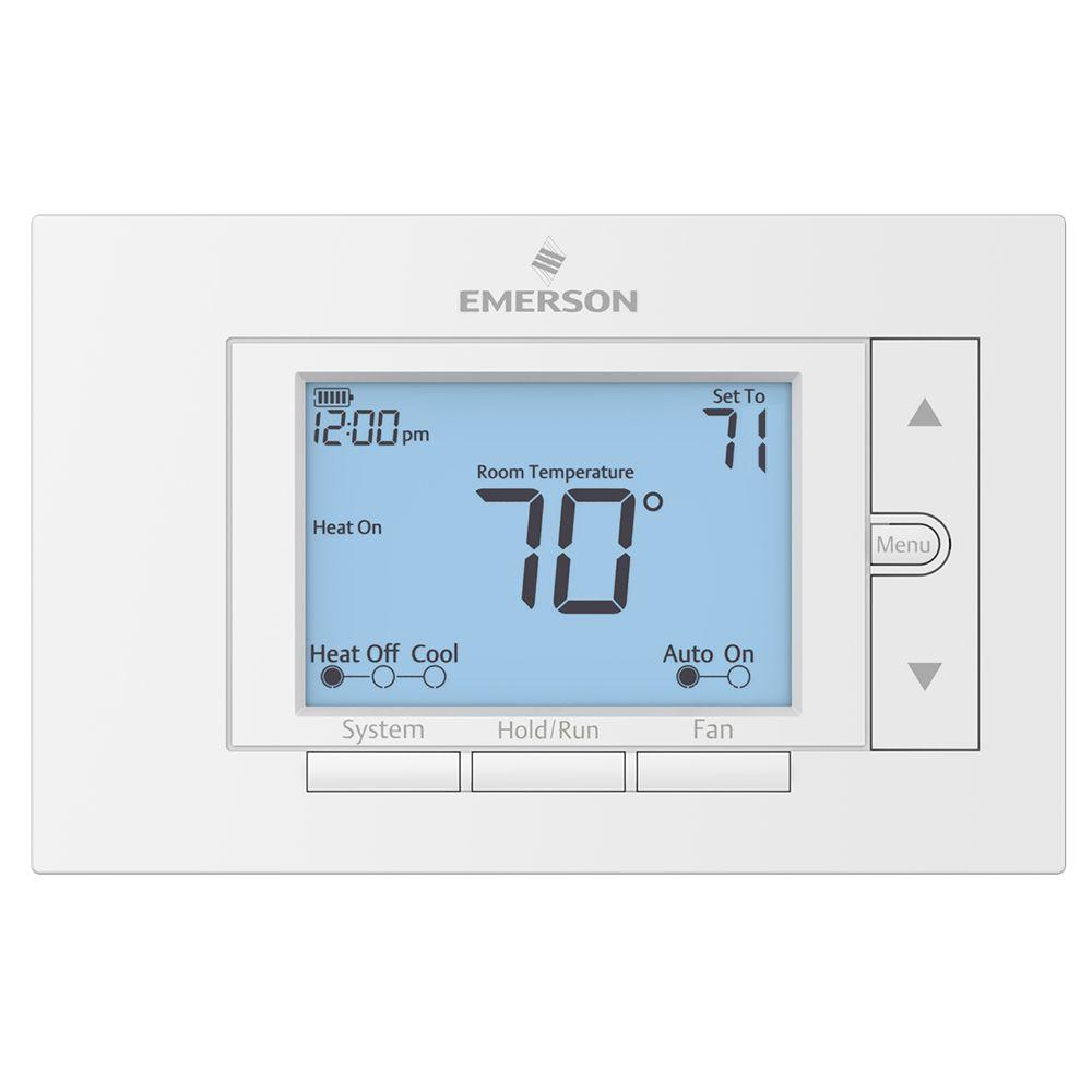 whites emerson programmable thermostats up310 64_1000 emerson premium 7 day programmable digital thermostat up310 the wiring diagram for a emerson up310 thermostat at eliteediting.co