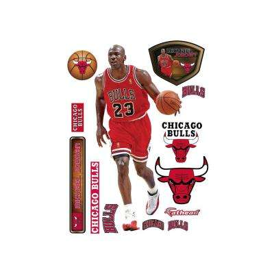 78 in. H x 37 in W Michael Jordan Wall Mural
