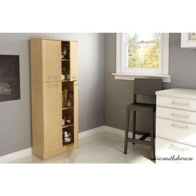 Axess 4-Door Laminated particleboard Pantry in Natural Maple