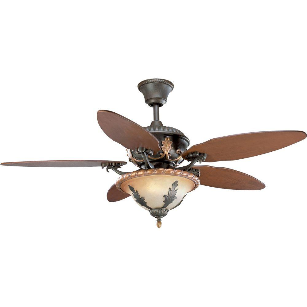 Thomasville Lighting Provence 54 In. Old Iron Crackle Ceiling Fan-DISCONTINUED