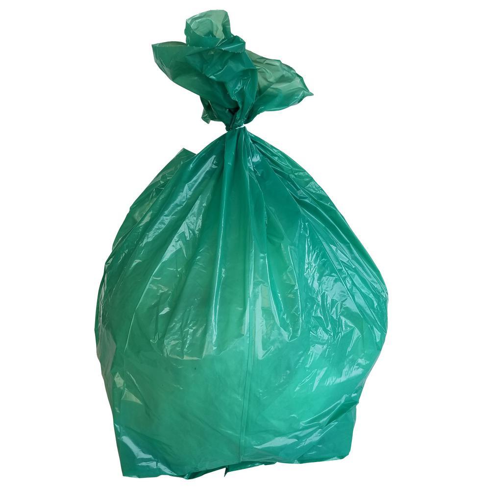 32 Gal. 1.2 mil 33 in. H x 39 in. W Green Trash Bags (100-Bags per Case, 138-Cases per Pallet)