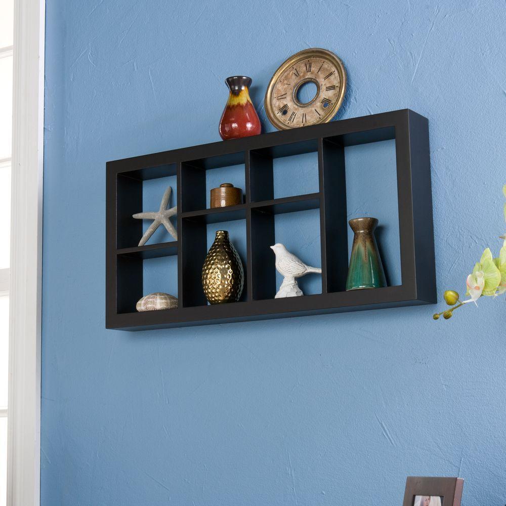 24 in. W Melvin Display Shelf in Black