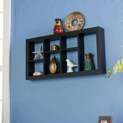 24 in. W Melvin Display Shelf in Black