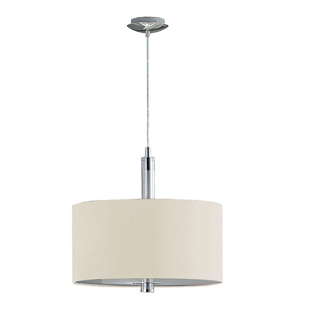 Eglo Halva 3-Light Brushed Aluminum and Chrome Pendant