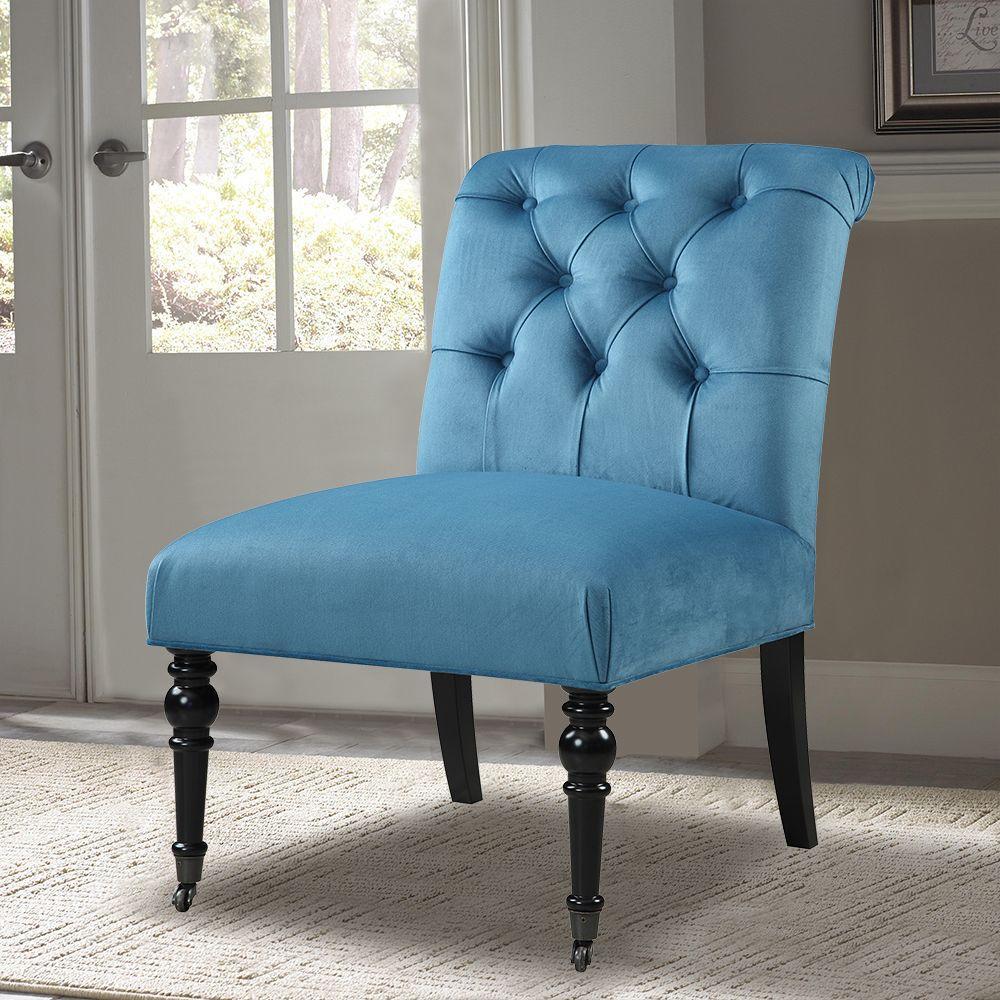 PRI Teal Fabric Side Chair