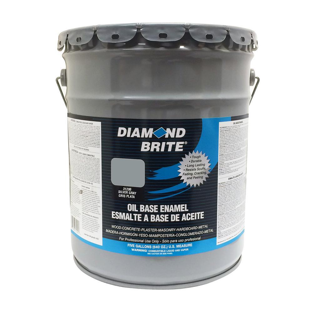 Diamond Brite Paint 5 Gal Silver Gray Oil Base Enamel