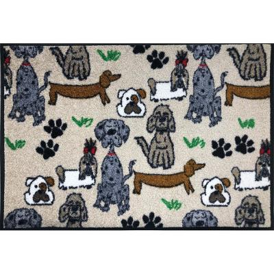 Whimsy Poochies 20 in. x 30 in. Nylon Doormat
