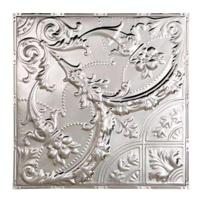 Saginaw 2 ft. x 2 ft. Nail-up Tin Ceiling Tile in Clear