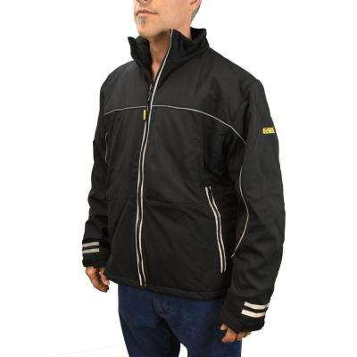 Men's XXLarge 20-Volt MAX XR Lithium-Ion Black Soft Shell Bare Jacket with 1 USB Power Adapter