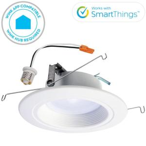 Halo RL 5 inch and 6 inch White Wireless Smart Integrated LED Recessed Downlight... by Halo