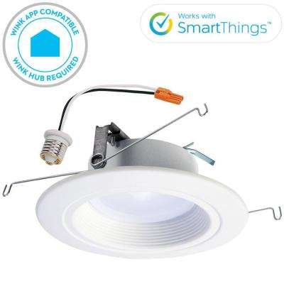 RL 5 in. and 6 in. White Wireless Smart Integrated LED Recessed Downlight Ceiling Fixture, Selectable Color Temperature