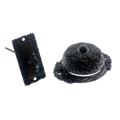 Solid Brass Ornate Mechanical Twist Door Bell in Oil-Rubbed Bronze