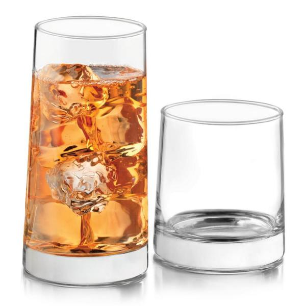 Cabos 16-Piece Clear Glass Drinkware Set