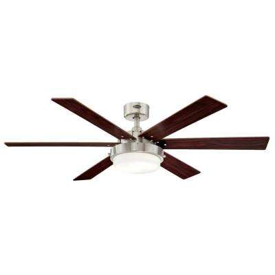 Alloy II 52 in. LED Brushed Nickel Ceiling Fan
