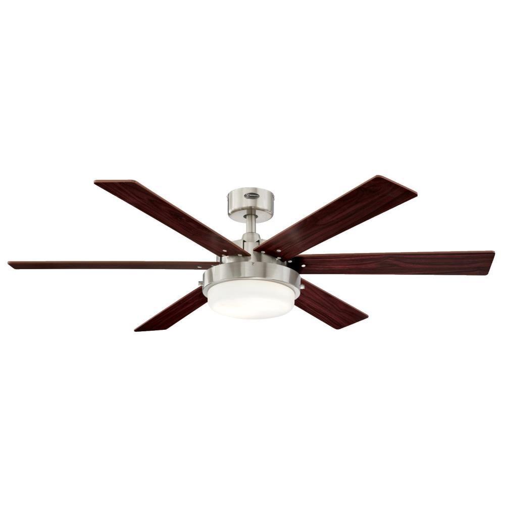 Alloy II 52 in. LED Brushed Nickel Ceiling Fan