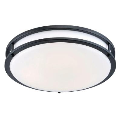 12 in. Bronze Integrated Selectable LED CCT Round Flush Mount Light