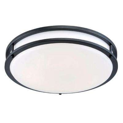 12 in. Oil-Rubbed Bronze/White Low-Profile LED Ceiling Light