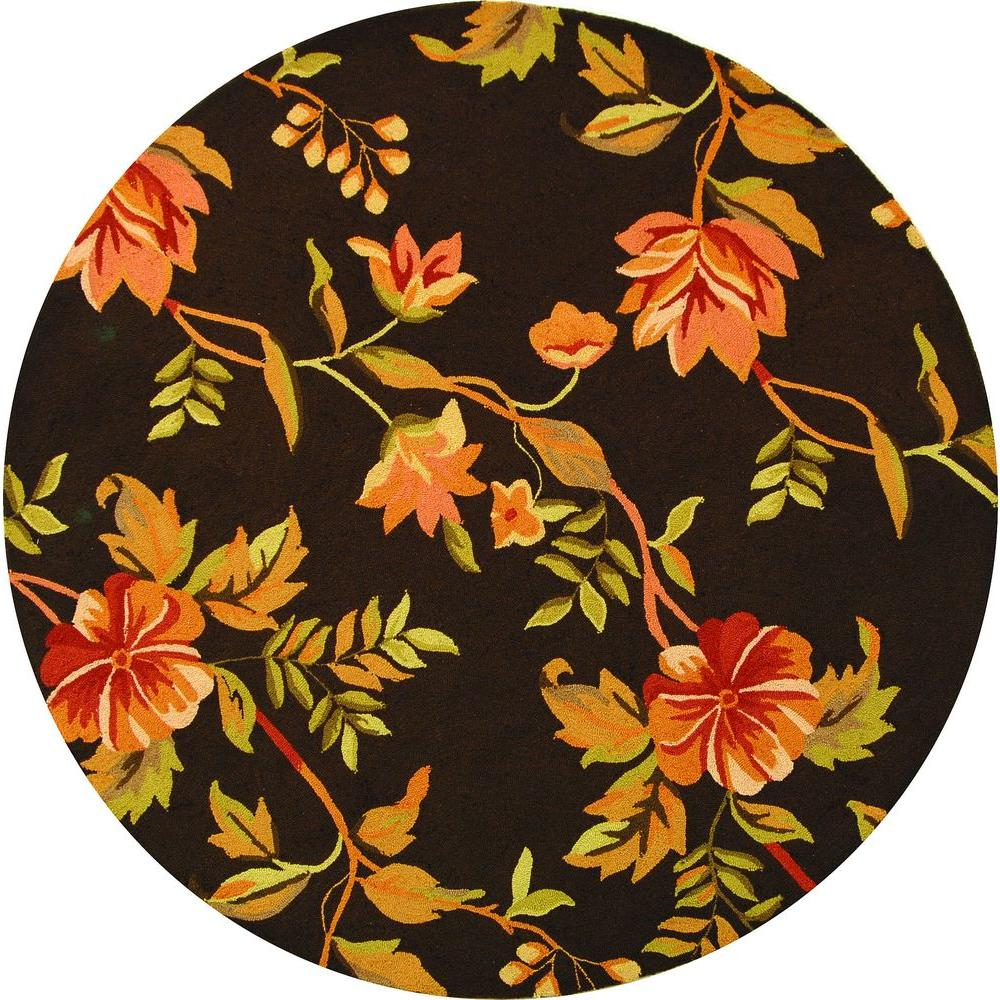 Safavieh Chelsea Brown/Multi 6 ft. Round Area Rug-HK712A-5R - The ...