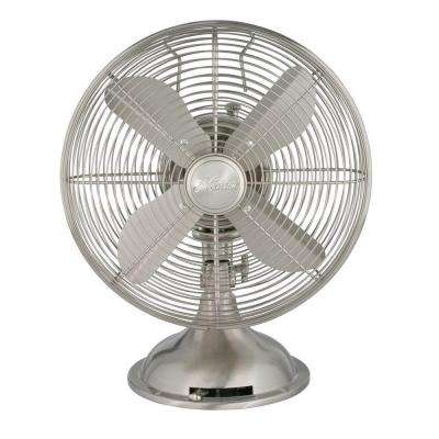 Retro 12 in. 3 Speed Oscillating Personal Table Fan