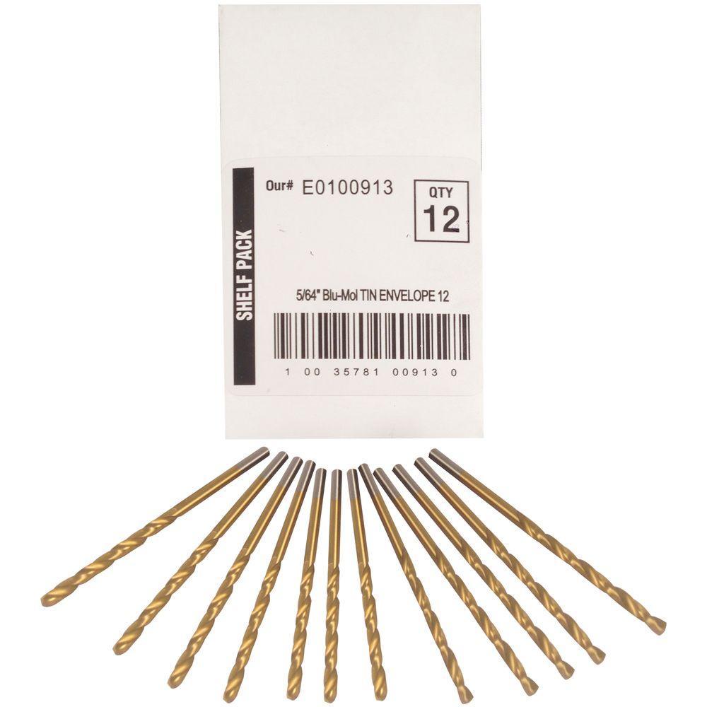 5/64 in. Diameter Titanium Jobber Drill Bit (12-Pack)