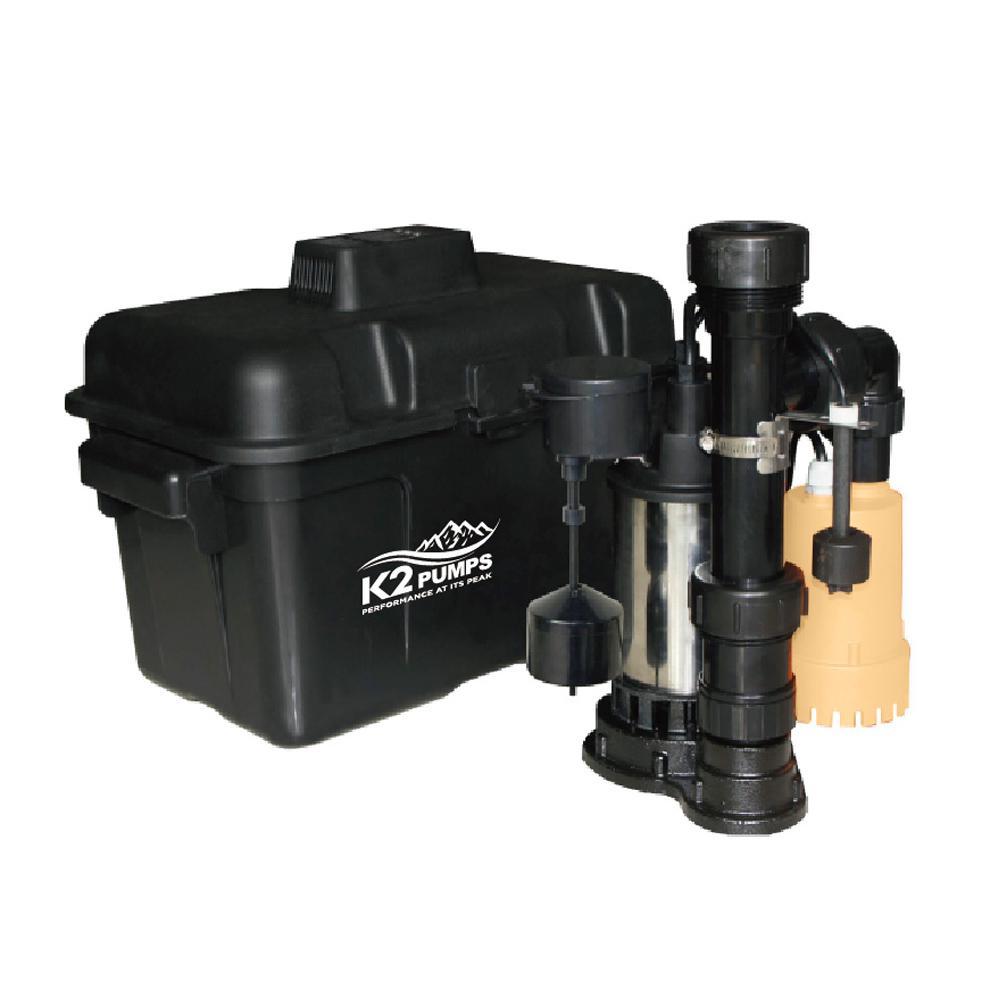 4000 GPH Compact Backup Sump Pump System