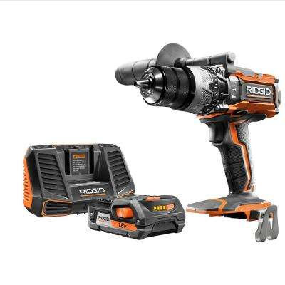 18-Volt Lithium-Ion Cordless 1/2 in. Hammer Drill/Driver Kit with 18-Volt Lithium-Ion 2.0 Ah Battery Pack and Charger