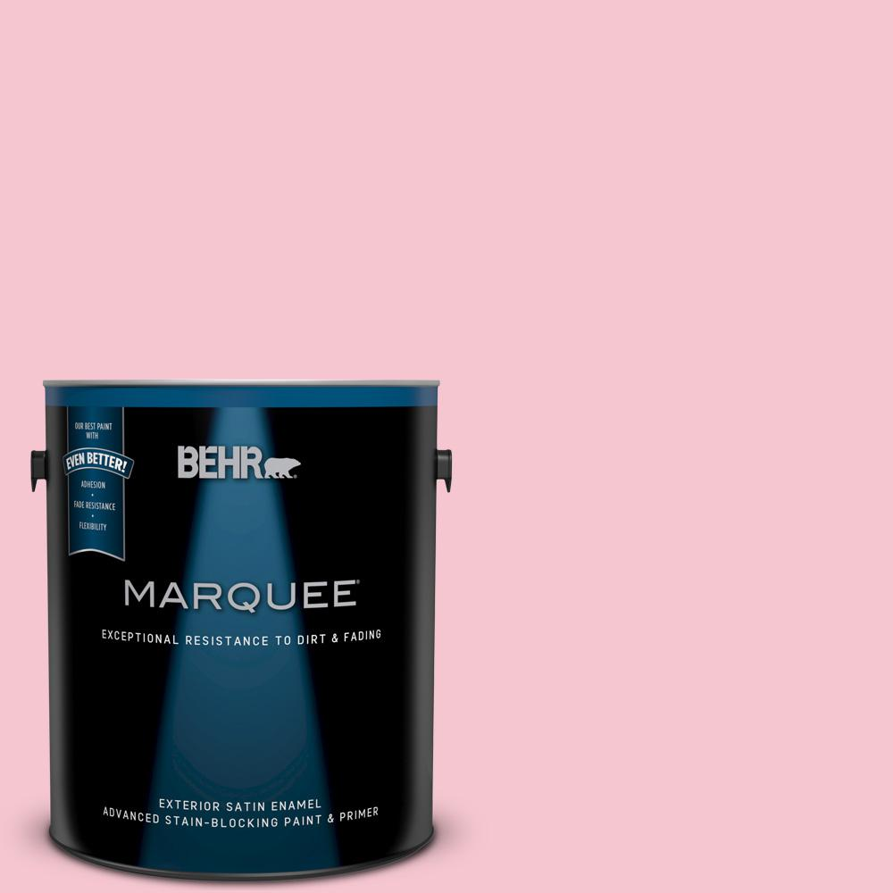 1 gal. #120B-4 Old Fashioned Pink Satin Enamel Exterior Paint and