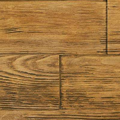 Superior Raised Grain 10 in. x 10 in. Faux Transitional Panel Siding Sample Fall Leaf Brown