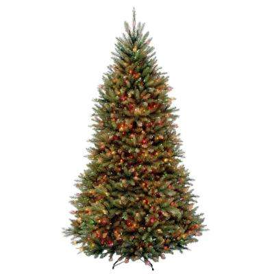 9 ft. Dunhill Fir Hinged Artificial Christmas Tree with 900 Multicolor Lights