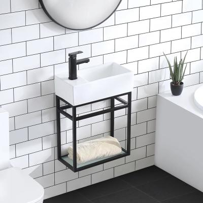 19.5 in. Pierre Bath Vanity with Vanity Top in Glossy White Basin