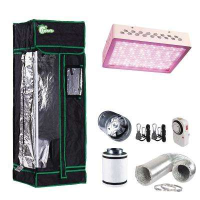 300-Watt Equivalent Grow/Bloom Full Spectrum LED Plant Grow Light Fixture with Grow Tent and Ventilation System