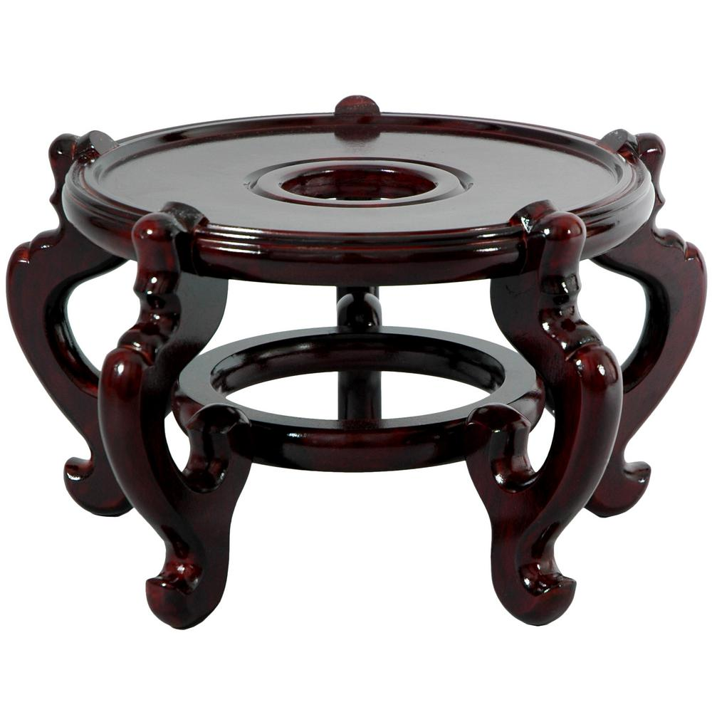 Oriental Furniture 8 5 In Rosewood Fishbowl Stand In