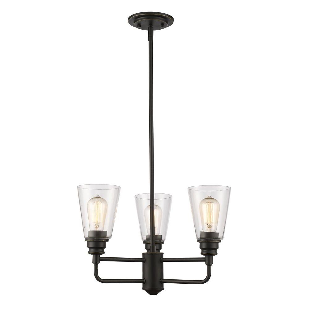 Filament Design Nina 3-Light Olde Bronze Chandelier