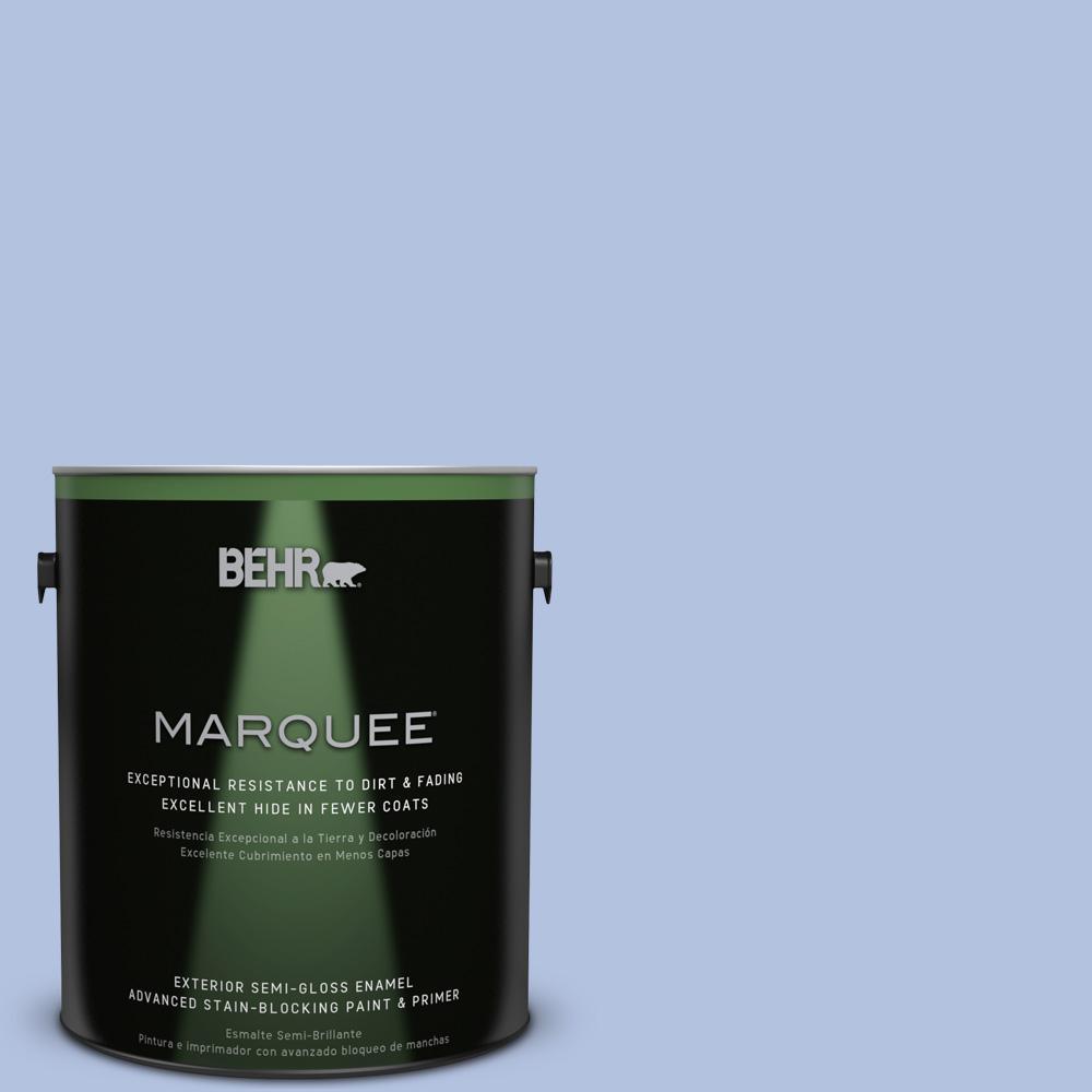 BEHR MARQUEE 1-gal. #600C-3 Periwinkle Bud Semi-Gloss Enamel Exterior Paint