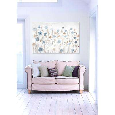 "16 in. x 24 in. W ""Beautiful Growth Light Blue"" Printed Framed Canvas Wall Art"
