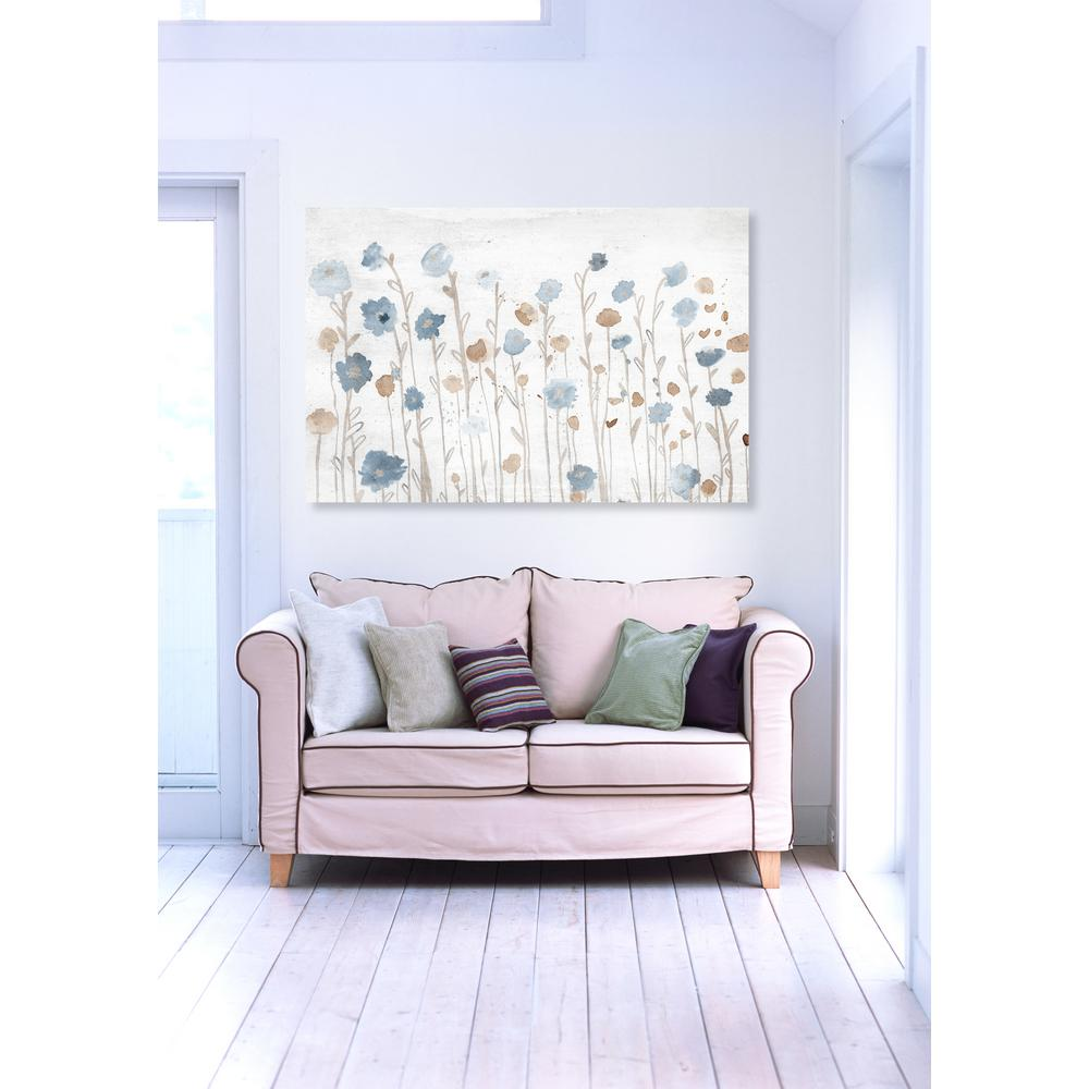20 in. x 30 in. W 'Beautiful Growth Light Blue' by