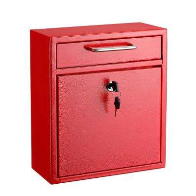 Medium Ultimate Red Wall Mounted Mail Box