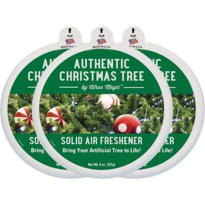 8 oz. Authentic Christmas Tree Holiday Edition Odor Absorbing Solid Air Freshener (3-Pack)