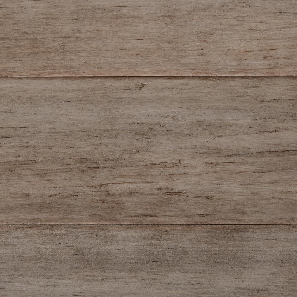 Home Decorators Collection Hand Scraped Strand Woven Earl Grey 1/2 in. T x 5-1/8 in. W x 72-7/8 in. L Solid Bamboo Flooring