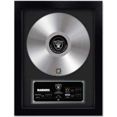 NFL Oakland Raiders 3-Time Super Bowl Champion Gold Record
