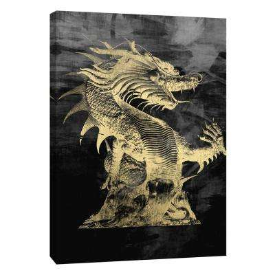 12 in. x 10 in. ''Golden Dragon'' Printed Canvas Wall Art