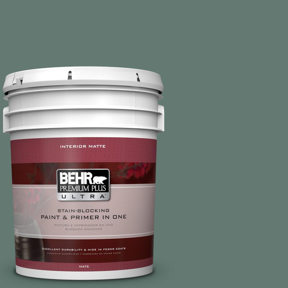 BEHR Premium Plus Ultra 5 gal. #S430-6 Forest Edge Matte Interior Paint