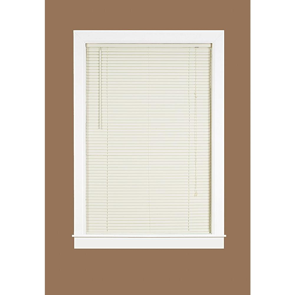 34 inch blinds ideas bedroom room darkening vinyl mini blind 34 in 64 lds3464va06 the home depot deluxe sundown vanilla in