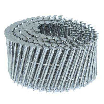 2 in. x 0.09 in. 15-Degree Ring Stainless Wire Coil Siding Nail 4,000 per box