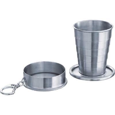 Telescopic Stainless Steel 2 oz. Shot Cup with Key Chain